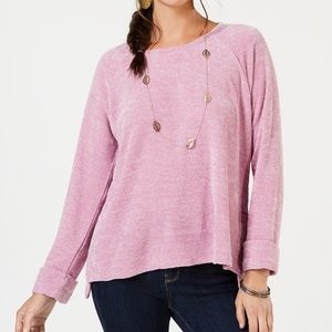 Style & Co Sz M Chenille Knit Top Stl# 100039070MS